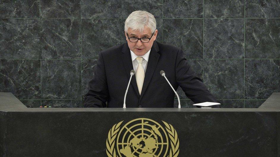 Český premiér Jiří Rusnok na zasedání Valného shromáždění OSN v New Yorku