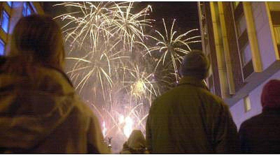 oslavy Nového roku - ilustrační foto
