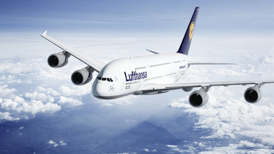Airbus A380 společnosti Lufthansa.