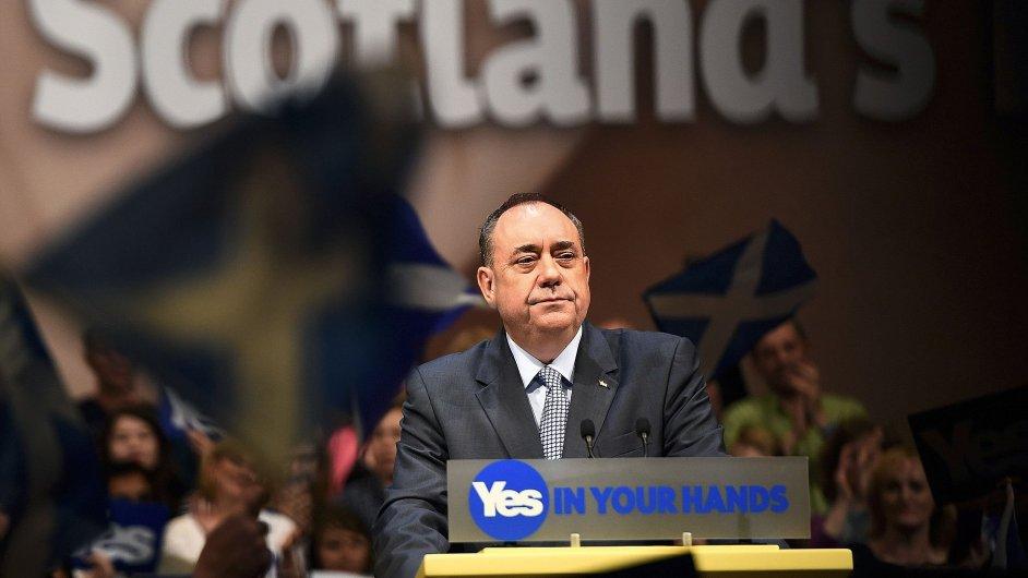 Alex Salmond během kampaně na podporu skotské nezávislosti