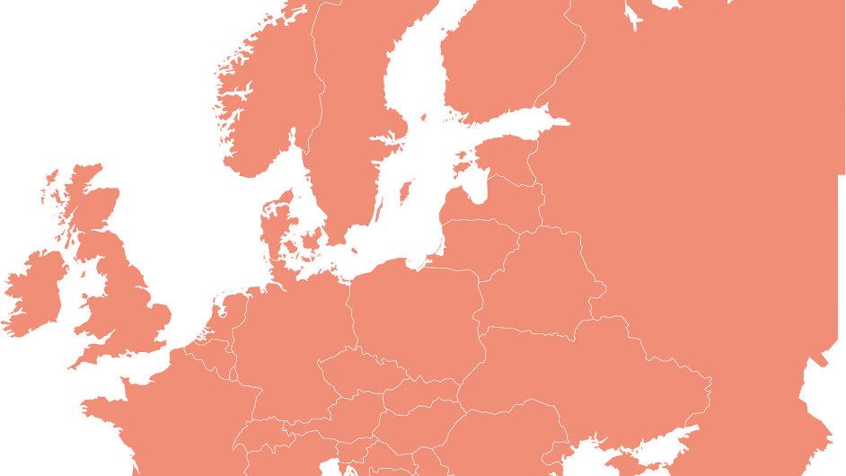 Evropa - ilustrace
