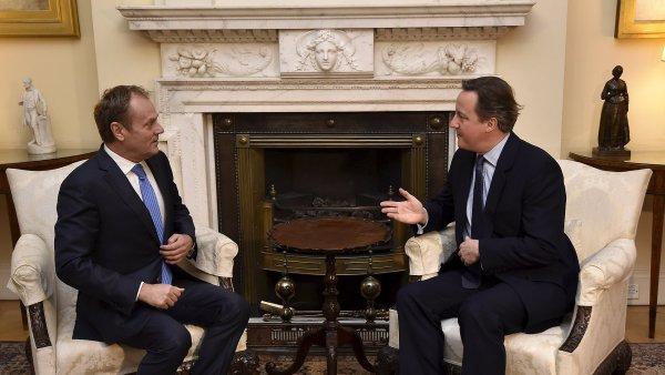 Britský premiér David Cameron jednal s předsedou Evropské rady Donaldem Tuskem.