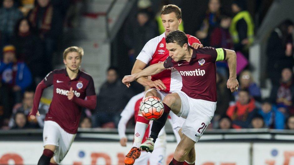 Utkání 22. kola první fotbalové ligy: AC Sparta Praha -SK Slavia Praha