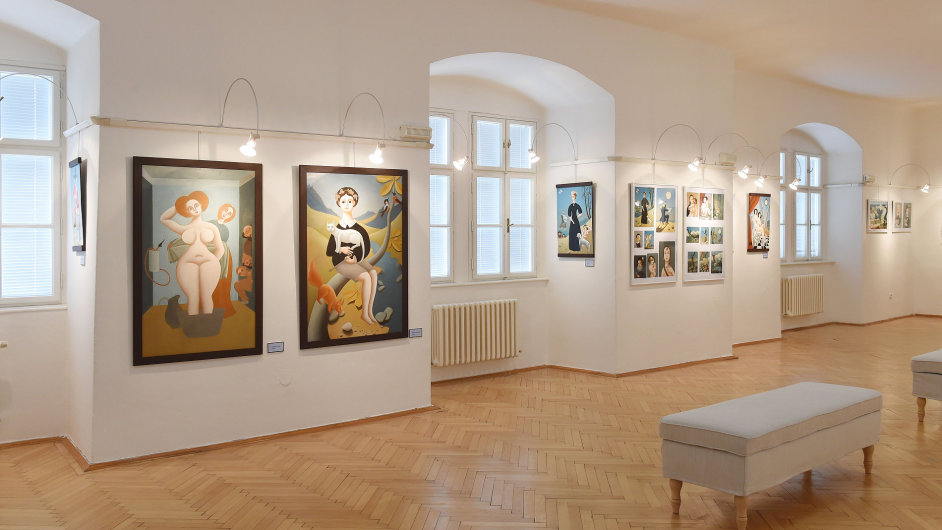 Snímek z výstavy Františka Bílka