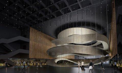Vizualizaace nového komplexu Sinfonia Varsovia ve Varšavě.