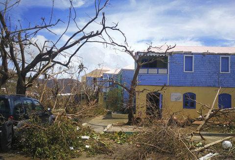 Hurikán Irma zdevastoval Tortolu, jeden z Britských Panenských ostrovů.