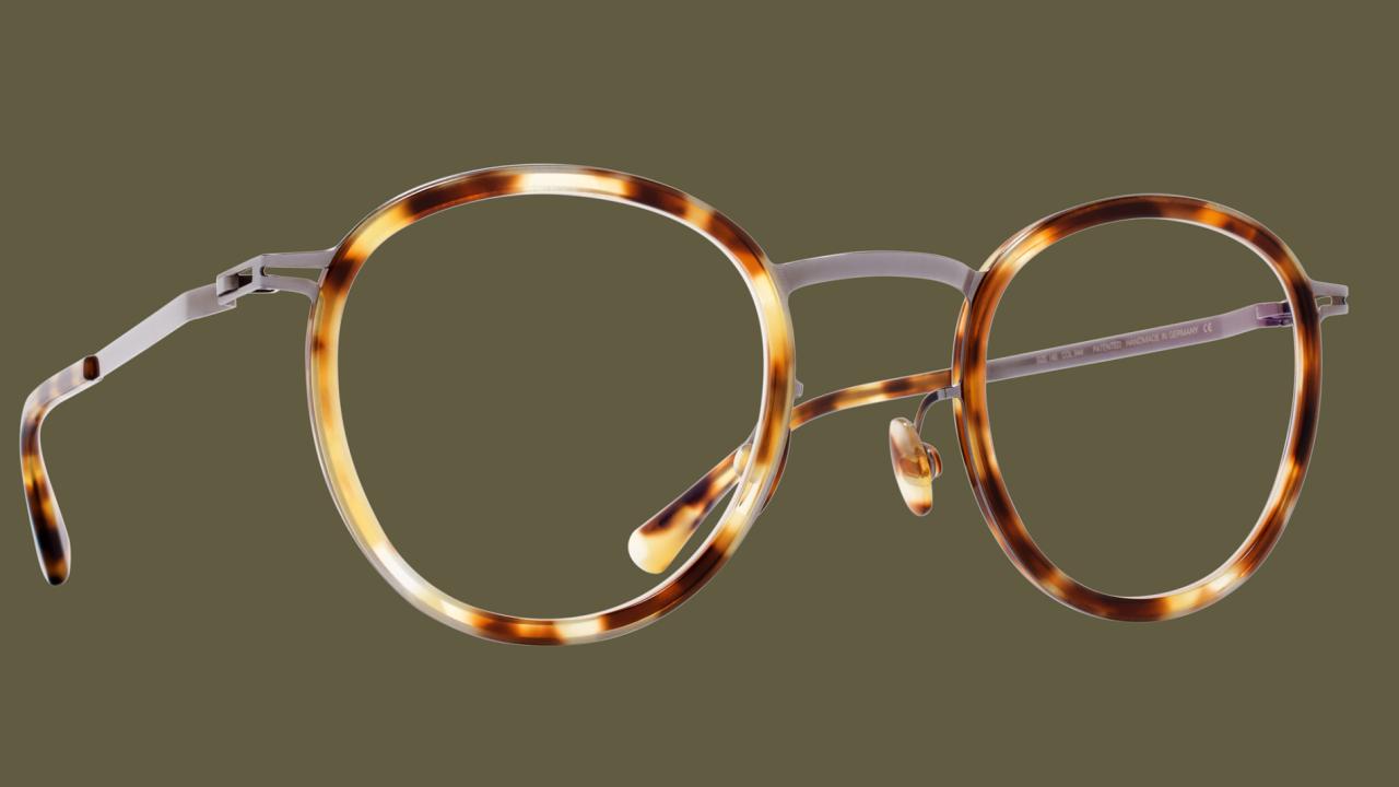 Kulaté brýle sželvovinovým vzorem
