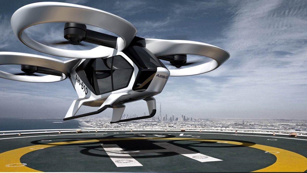 CityAirbus by měl létat nad ulicemi velkých měst a přepravovat pasažéry.