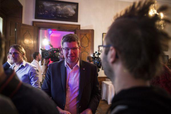 Komunální volby 2018, volební štáb Top 09, na snímku Jiří Pospíšil