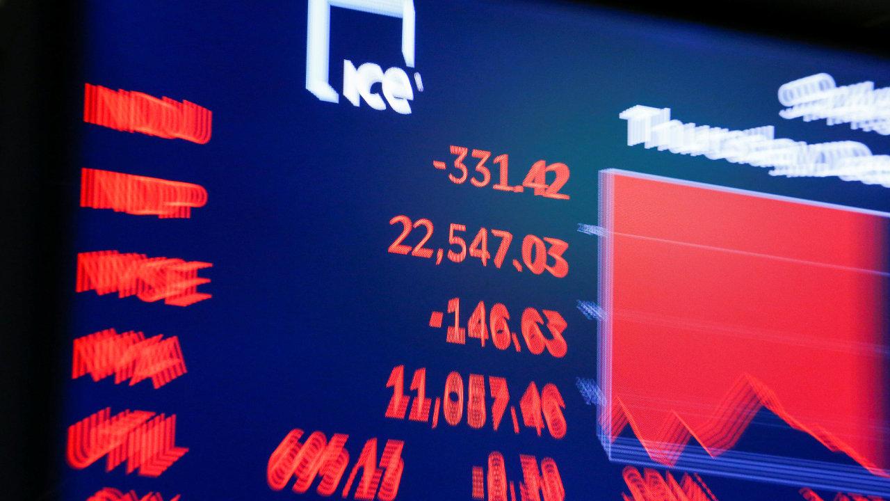 Dow Jonesův index  po skončení obchodování na newyorské burze.