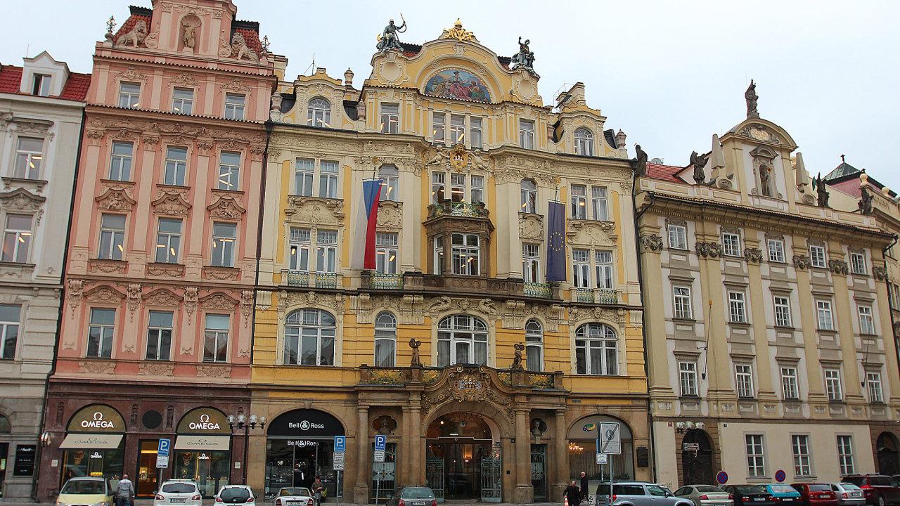 Ministerstvo pro místní rozvoj na Staroměstském náměstí.