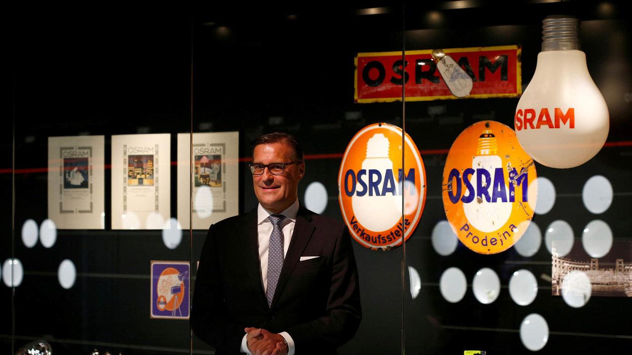 Německá společnost Osram je jedním z největších výrobců osvětlovací techniky na světě. Jejím šéfem je Olaf Berlien (na snímku).