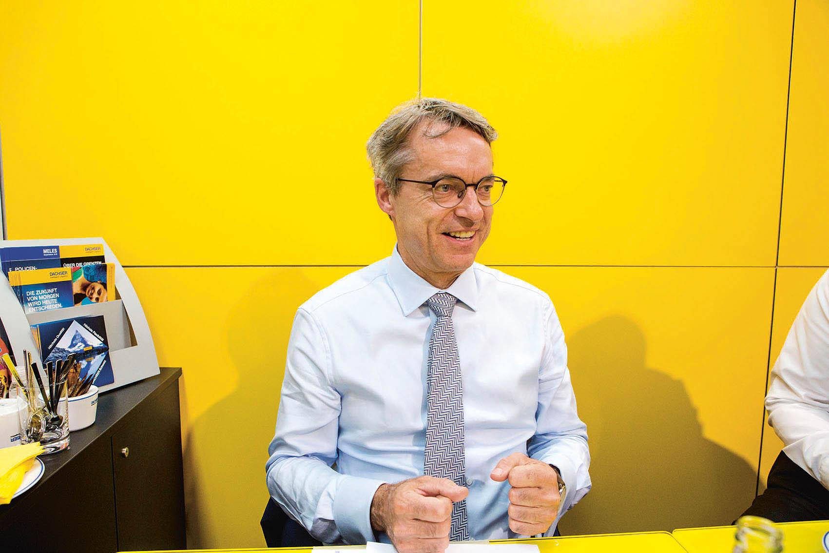 Bernhard Simon, vnuk zakladatele aředitel celého koncernu Dachser