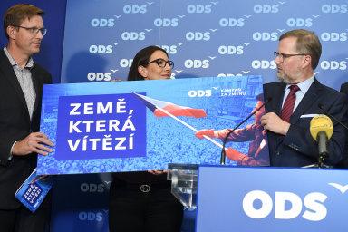 Předseda Občanské demokratické strany  Petr Fiala a členové předsednictva zahájili 9. října 2019 v Praze novou kampaň ODS.