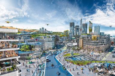 Německá technologická společnost Continental oslovila futurology, aby pro ni nakreslili město budoucnosti. Atakhle to podle nich bude vypadat.