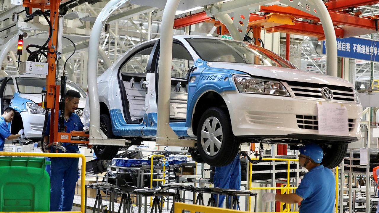 Závod Volkswagenu v Ujgurské autonomní oblasti Sin-ťiang
