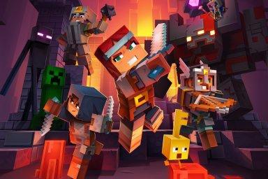 Minecraft Dungeons je akční hra z kostičkovaného světa, který má už 200 milionů fanoušků