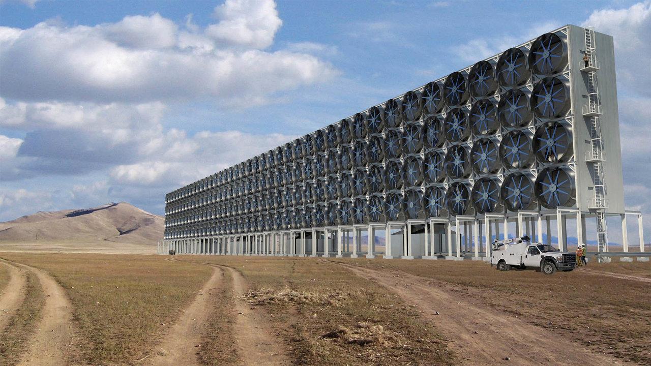 SGatesovou podporou. Nová technologie vpodobě obřích větráků firmy Carbon Engineering zachycuje CO2 zevzduchu. Mezi investory je také Bill Gates.