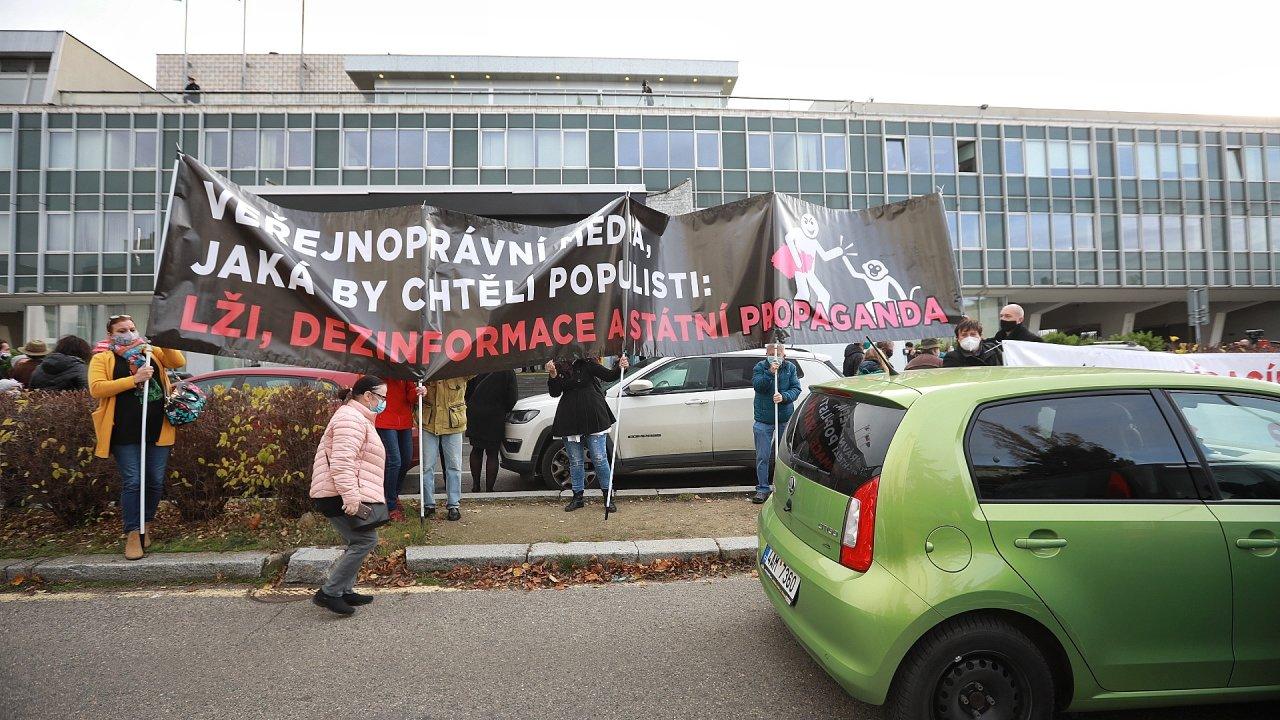 Protest před ČT