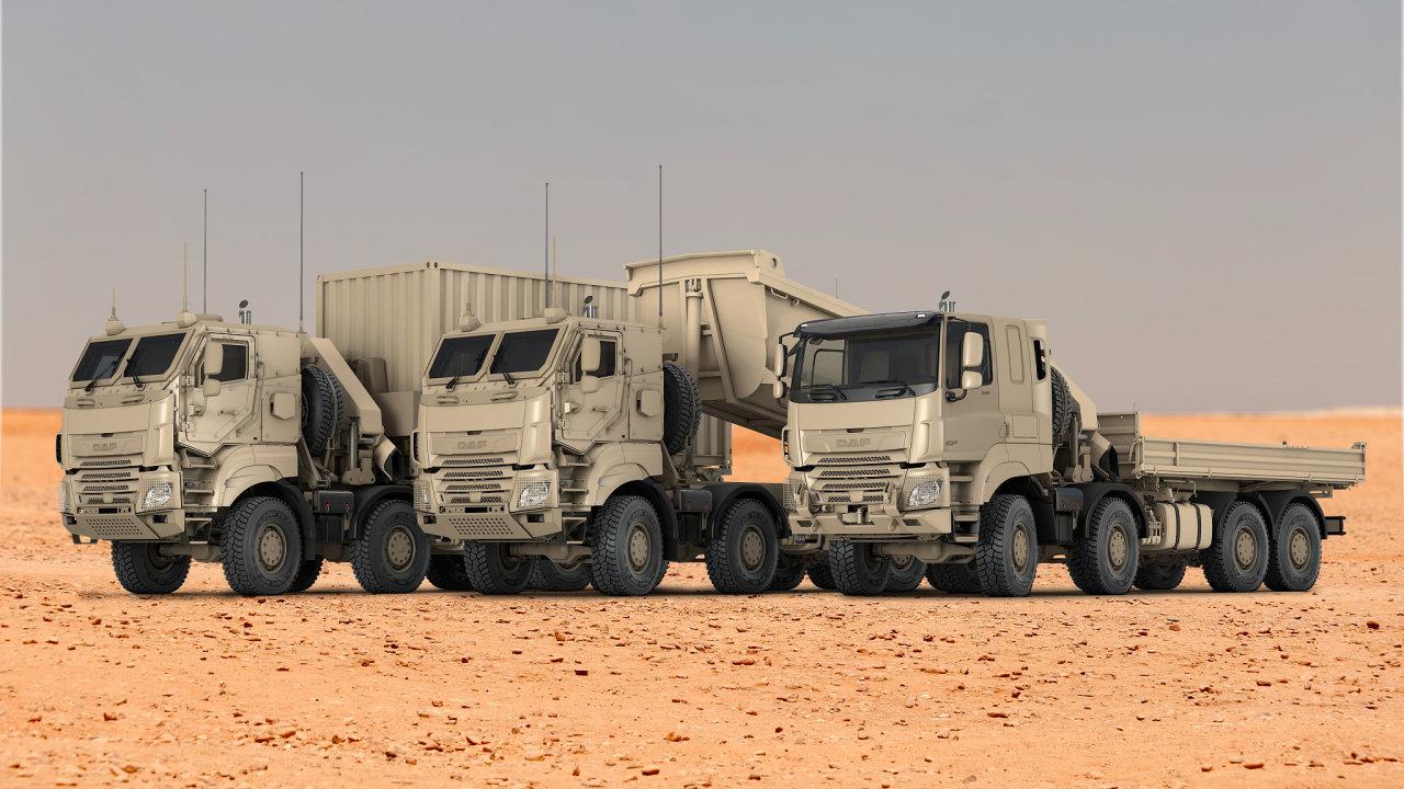 Vojenská vozidla DAF CF vyrobená ve spolupráci s Tatra Trucks.