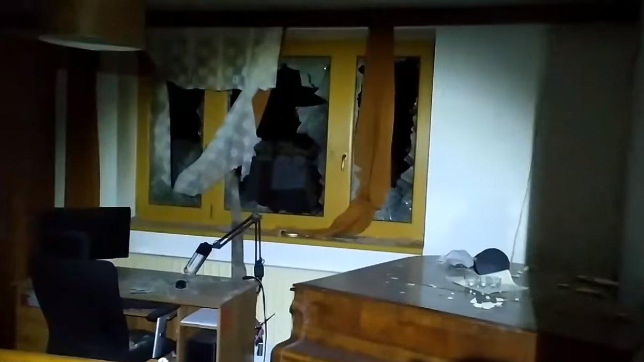 Zničený dům rodiny Poláchových.