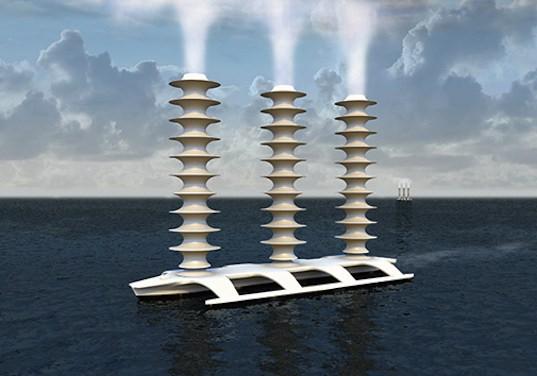 zařízení bělící mraky rozprašováním mořské vody