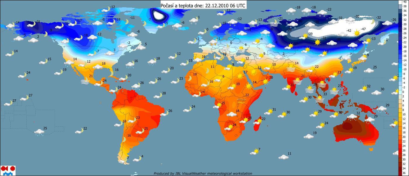 Mapa Teplotni Mapa Sveta