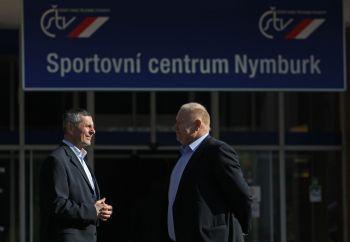 Předseda ČSTV Pavel Kořán (vlevo)