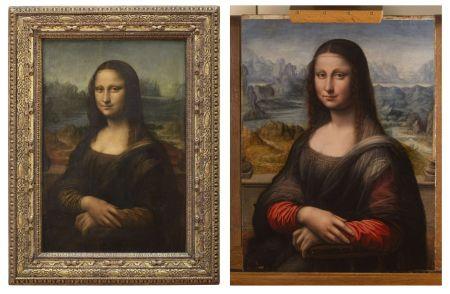 Vlevo originál, napravo kopie Mony Lisy.