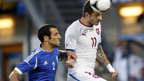 Tomáš Sivok v zápase proti Izraelcům.