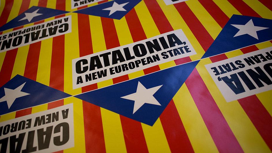 Slogan na vlajce: Katalánsko, nový evropský stát