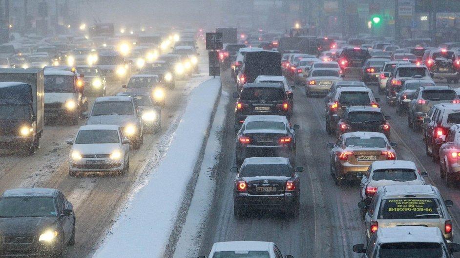 Dopravní zácpa v Moskvě