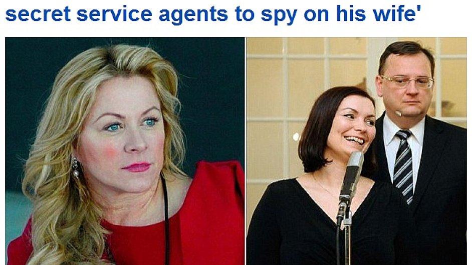 Aféra kolem Petra Nečase a Jany Nagyové na serveru listu Daily Mail