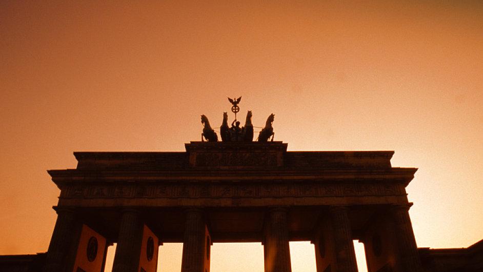 Německo. Brandenburská brána v Berlíně.