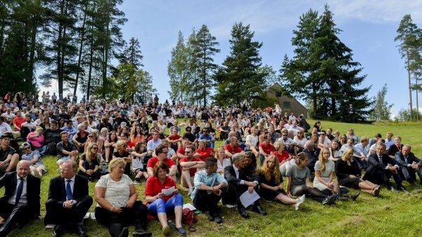 Utöya Norsko připomínková akce 4. výročí