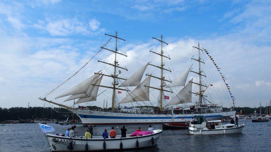 Slavnost Sail se koná v Amsterdamu na konci srpna.