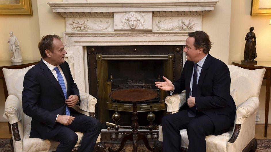 Cameron jednal s Tuskem