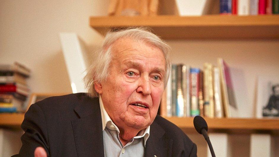 Pavel Kohout na snímku z letošního lednového vystoupení v Knihovně Václava Havla.