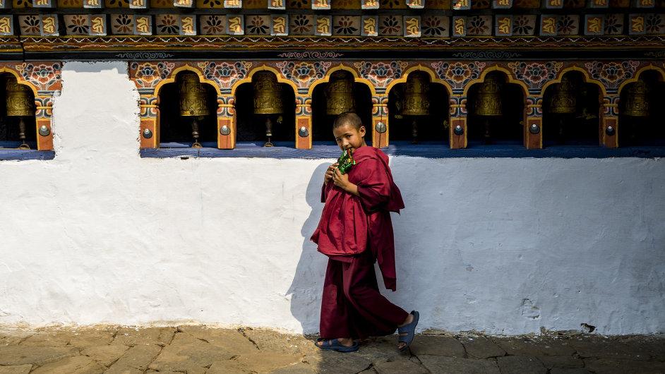 Student buddhismu v Bhútánu.