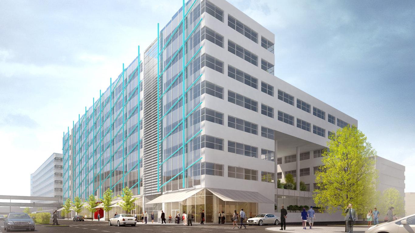 Plánovaná podoba budovy, do které se přestěhuje Moneta Money Bank