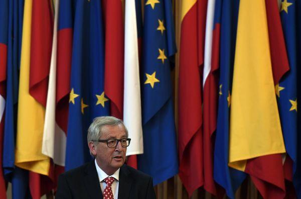 Předseda Evropské komise Jean-Claude Juncker vystoupil 8. června na slavnostním zasedání v Karolinu v Praze.