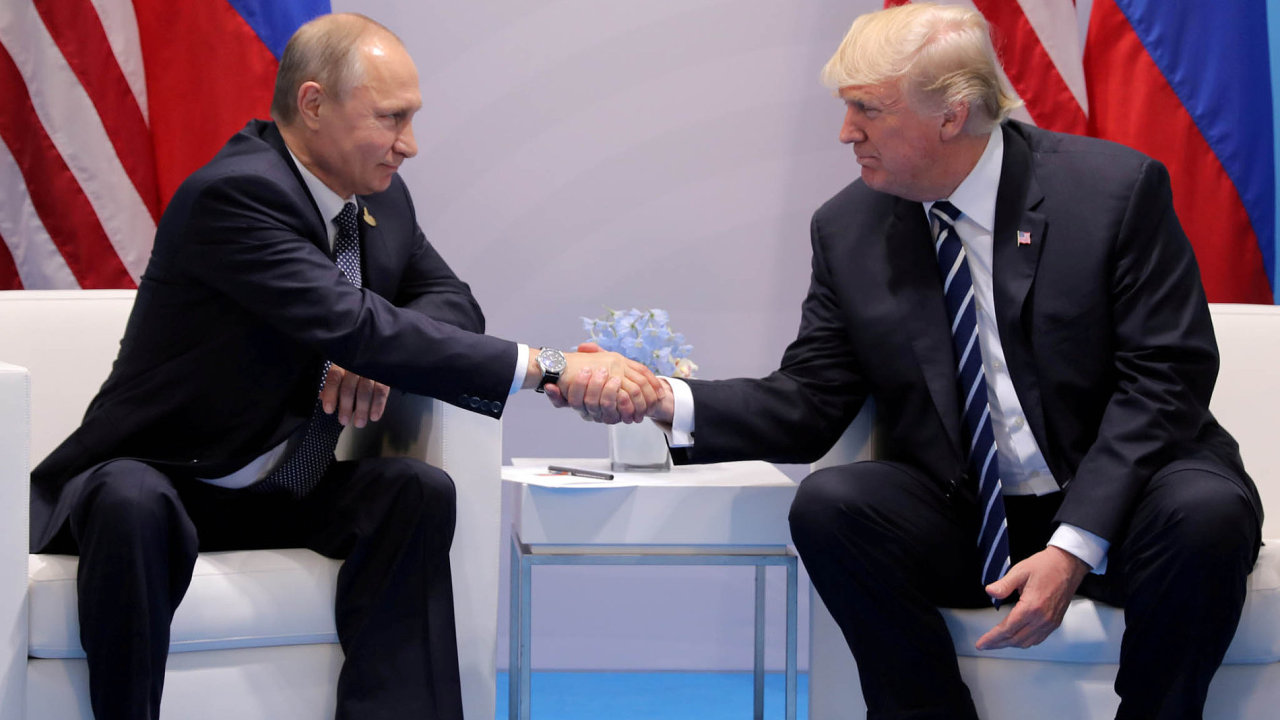 Prezidenti Vladimir Putin a Donald Trump.