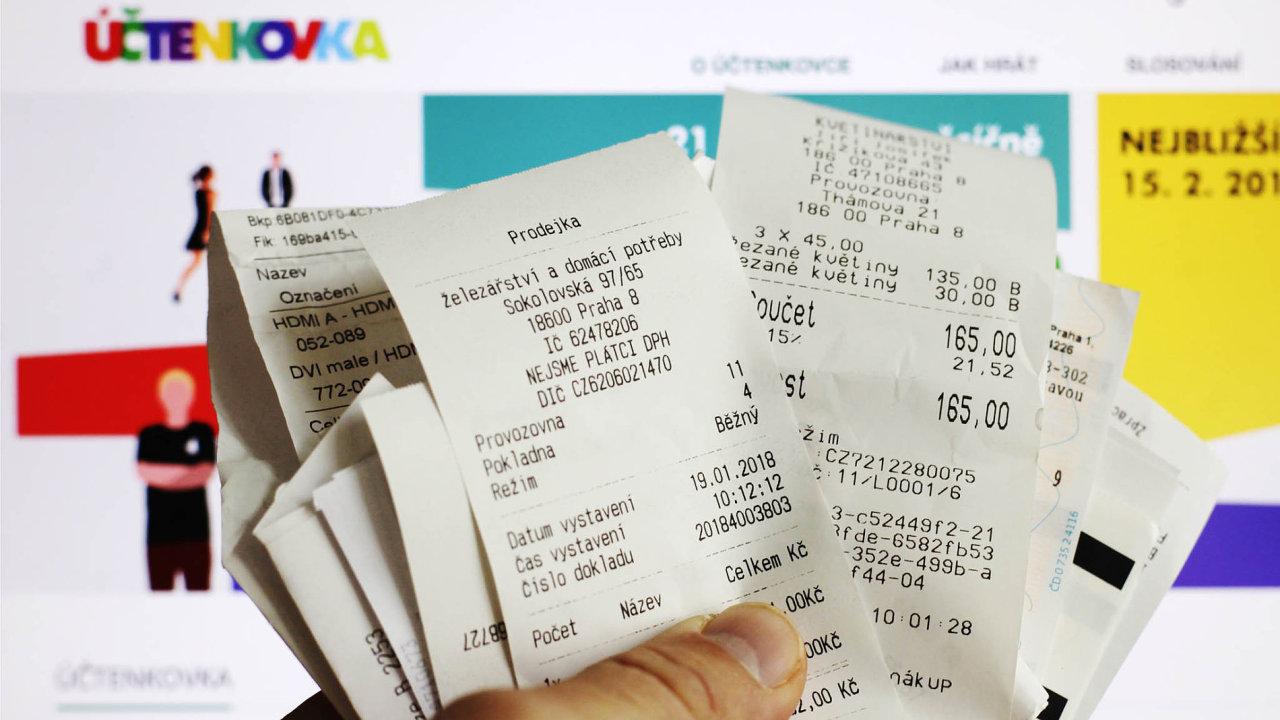 Odprvního března obchodníci nebudou muset vydávat účtenku EET při platbě kartou, doklad ozaplacení nově nebude obsahovat DIČ.