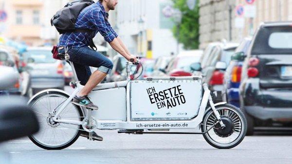 V Berlíně jsou nákladní kola, tzv. cargo bike k vidění velice často.