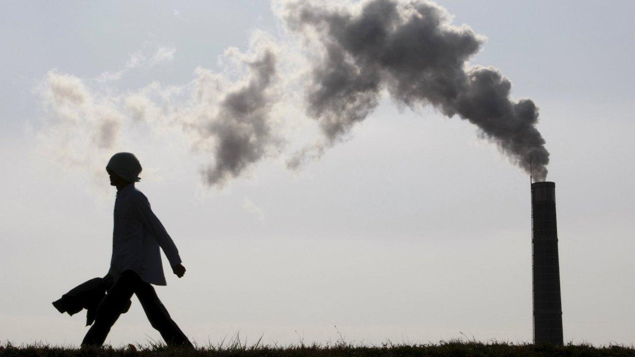 komín, znečištění, ovzduší, továrna