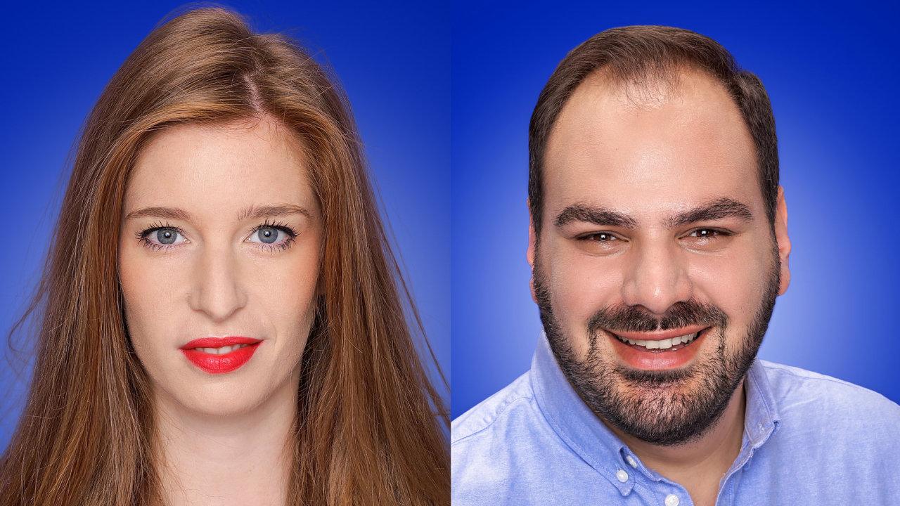 Zuzana Záhorová a Nikoloz Bolkvadze, tým pro český trh společnosti Facebook