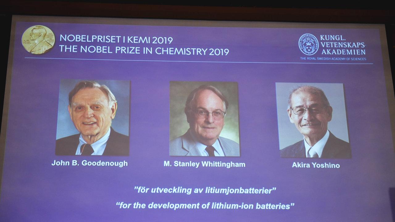 Nobelovu cenu za chemii udělila ve středu Královská švédská akademie věd.