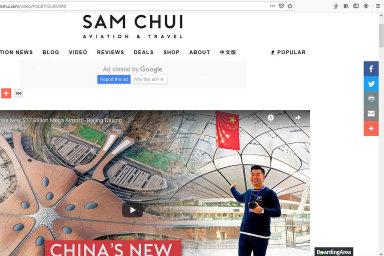 Stránky Samchui.com světově nejsledovanějšího blogera o civilním letectví