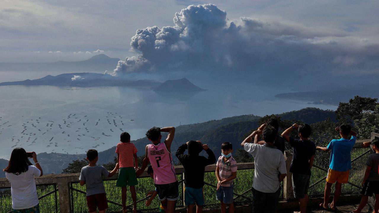 Filipíny sopka