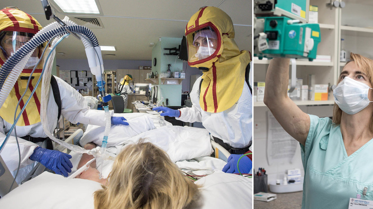 O pacienty, z nichž většina není při vědomí, se dnem inocí starají sestry, lékaři aošetřovatelé.